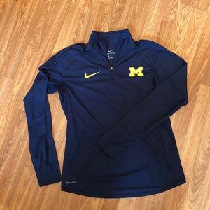 [Nike] Michigan Wolverines Quarter Zip